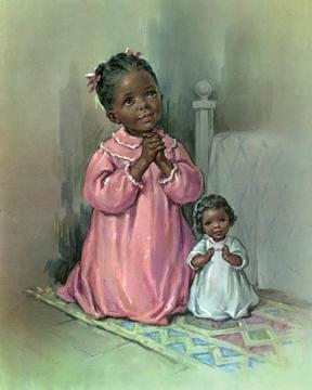 Black Girl Praying - Print