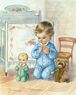Little Boy Praying - Print