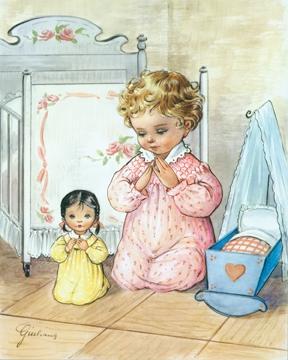 Little Girl Praying - Print