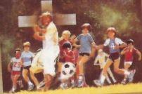 Zdinak Christ With Soccer Team - Print