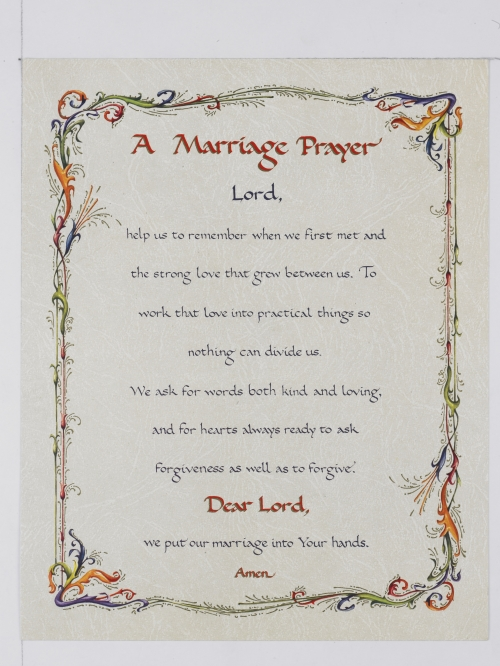 Marriage Prayer - Print