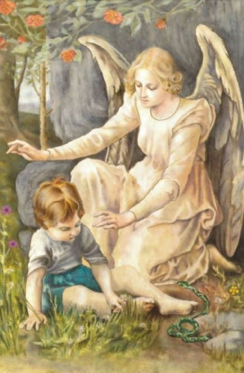 Guardian Angel Boy - Print