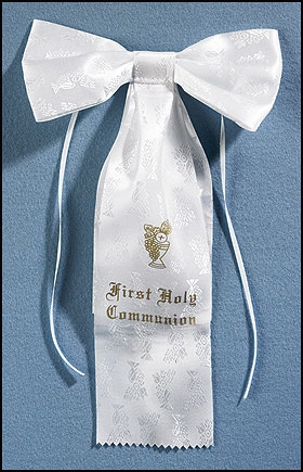First Communion Chalice Brocade Arm Bow - 8/pk