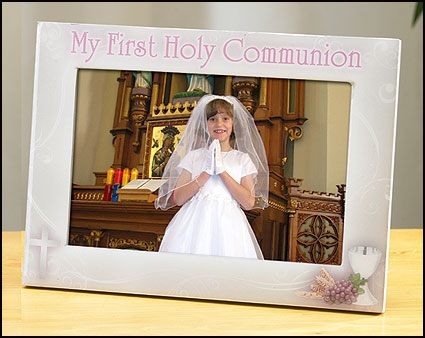 My First Holy Communion Photo Frame Girl Sacramental Seasonal