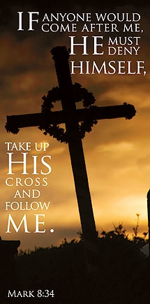 Take Up His Cross Canvas Banner
