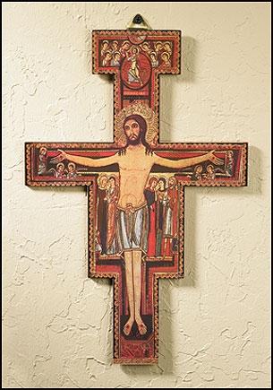 "5"" San Damiano Crucifix – 12/PK"