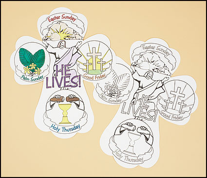 Color Your Own Holy Week Cross - 50/pk