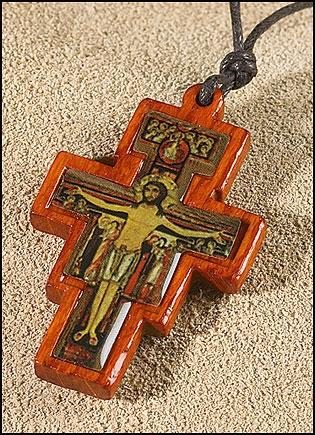 San Damiano Crucifix Pendant - 12/pk