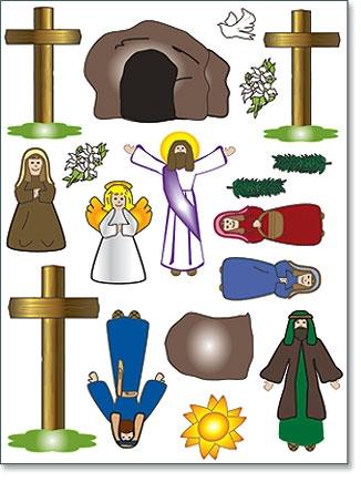 Easter Scene Magnet Set - 12 sheets/pk