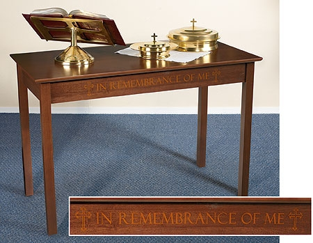 Silk-Screened Communion Table