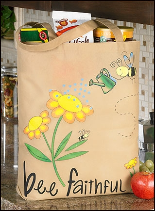 Bee Faithful Tote Bag - 12/pk