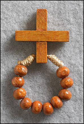Cord Rosary Ring - 24/pk