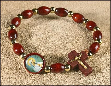 Madonna Rosary Bracelet - 24/pk