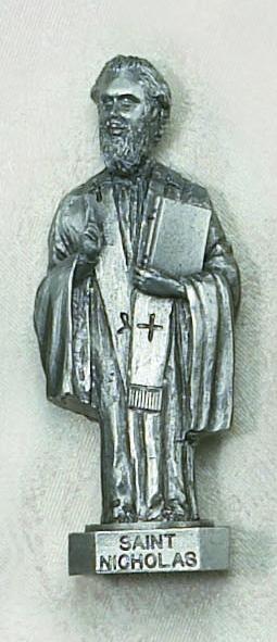 St. Nicholas Pewter Statue