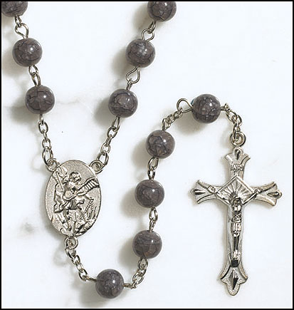 St Michael Marble Rosary