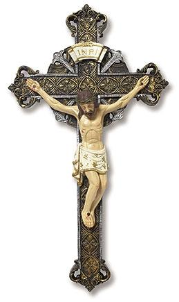 Ornate Wall Crucifix - 3/pk