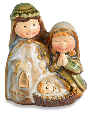 Childlike Adoring Nativity Figurine