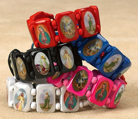 Devotional Saints Bracelet Assortment - 20/pk
