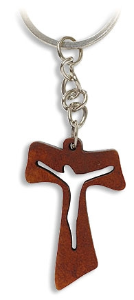 Tau Crucifix Key Chain - 36/pk