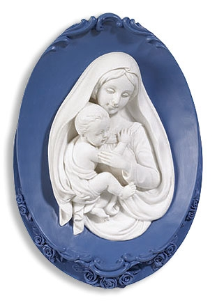 Madonna and Child Wall Plaque - 2/pk