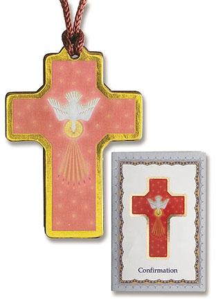 Devotional Cross Pendant with Prayer Folder - 12/pk