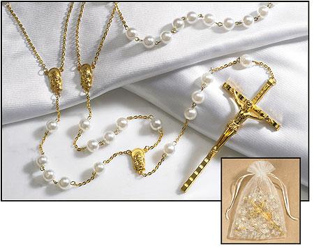 Imitation Pearl Lasso Rosary