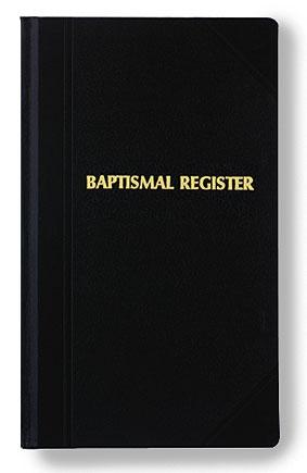 Baptism Register Large Edition