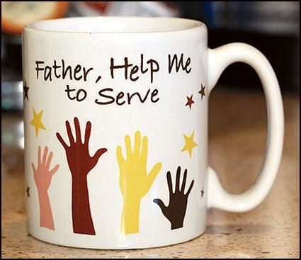 Father, Help Me To Serve Mug