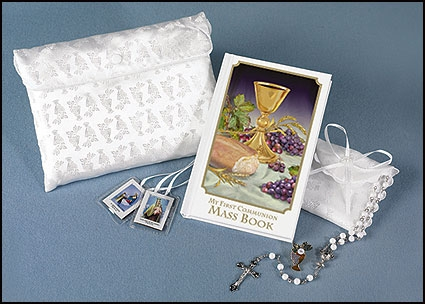 Body of Christ First Communion Satin Purse Set
