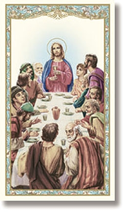 Last Supper Holy Card - 100/pk