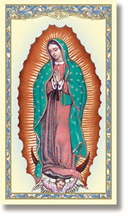 Our Lady of Guadalupe (Mystical Rose) Holy Card - 100/pk
