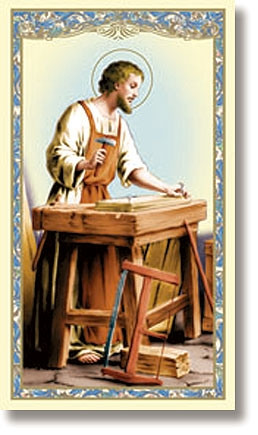 St. Joseph the Worker Holy Card - 100/pk