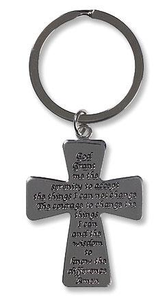 Serenity Cross Key Chain - 12/pk