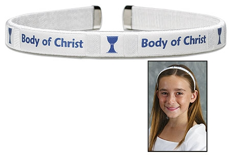 Body of Christ First Communion Hairband - 12/PK