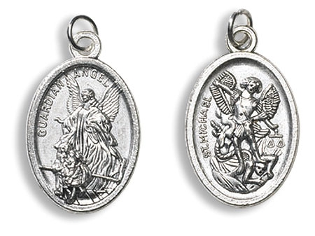 Guardian Angel/St. Michael Devotional Saint Medal - 50/pk