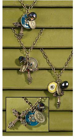Vintage Charm Cross/Medal Dangle Pendant
