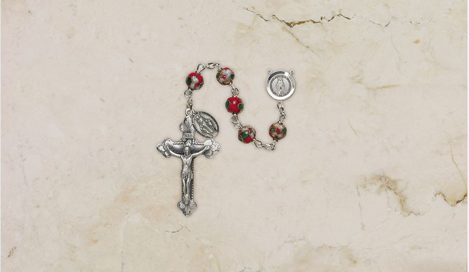 Red Cloisonné Rosary