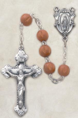 Brown Wood Men's Italian Rosary