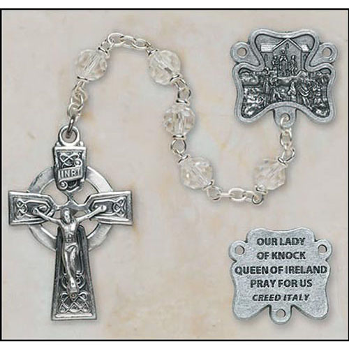 Crystal Our Lady of Knock Irish Rosary