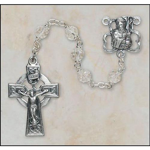 Crystal St Patrick Rosary