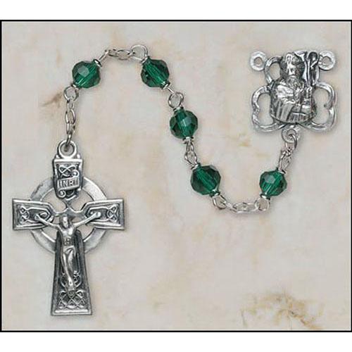 Emerald St Patrick Rosary