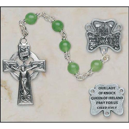 Aventurine Our Lady of Knock Irish Rosary
