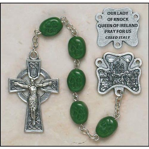 Shamrock Our Lady of Knock Irish Rosary