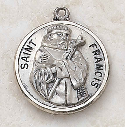 Sterling St. Francis Special Devotion Medal