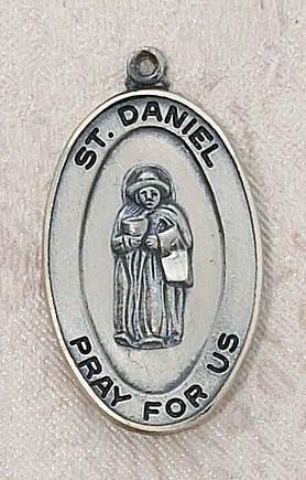 Sterling St. Daniel Patron Saint Medal