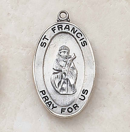 Sterling St. Francis Patron Saint Medal