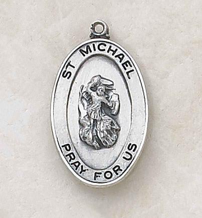 Sterling St. Michael Patron Saint Medal