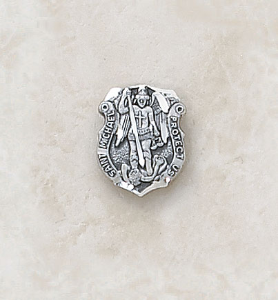 Sterling Silver St. Michael Lapel Pin
