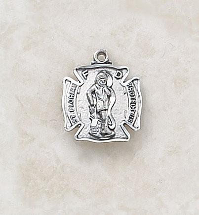 Sterling St. Florian Patron Saint Medal
