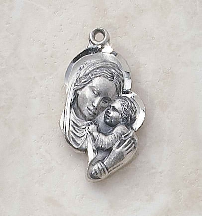 Sterling Madonna and Child Patron Saint Medal